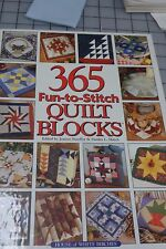 365 Fun-to-Stitch Quilt Blocks (2001, Hardcover)   LIKE NEW    FREE SHIP IN US