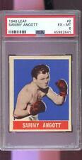 1948 Leaf #2 Sammy Angott PSA 6 Graded Boxing Card