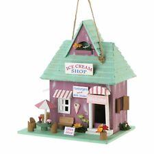 Ice Cream Shop Wooden Birdhouse Outdoor Decor