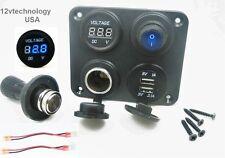 3.1 Amp USB Charger + Voltmeter +12V Lighter Socket + Pug + Switch Panel Outlet