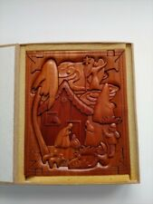 3D Wood Puzzle Nativity   Decor Display