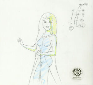 Superman Animated Series-Original Production Drawing--Maxima-Warrior Queen