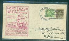 "USS Constitution Oct 6, 1933 ""Long Beach, Calif"" cancel;  cachet cover"