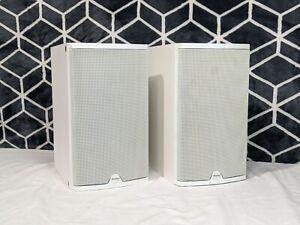 Boston Acoustics CR6 White Bookshelf Stereo Hi-Fi Speakers