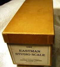ANTIQUE EASTMAN KODAK STUDIO SCALE, ORIG BOX,COMPLETE ALL 6 WEIGHTS,ROCHESTER NY