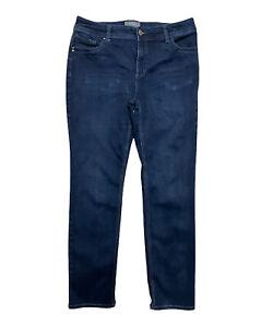 Chicos So Slimming Women's Size 1.5 Blue Jeans Stretch Dark Wash Denim