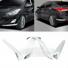 Chrome Bumper Guard Protector Garnish Molding for Hyundai 2011 - 2016 Elantra MD