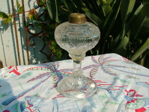 """ANTIQUE 19THC. STARS AND SHIELD 7"""" TALL OIL LAMP"""