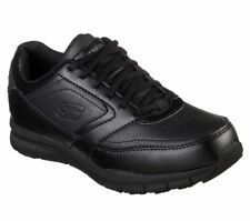 Skechers Work Black Women Shoe Wide Fit Memory Foam Comfort Slip Resistant 77235