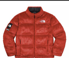 Supreme / The North Face Faux Fur Nuptse Jacket Red Size: Medium