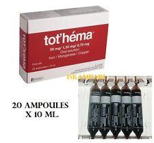 TOT HEMA FERRO / MANGANESE / RAME ORALE SOLUZIONE 20 X 10 ML ANEMIA, GRAVIDANZA