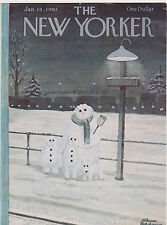 JAN 14 1980 THE NEW YORKER magazine ( COVER ONLY ) - SNOWMEN