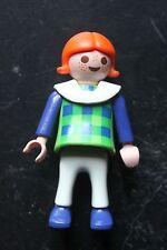 PLAYMOBIL - personnage fille fillette enfant - pantalon blanc haut vert bleu