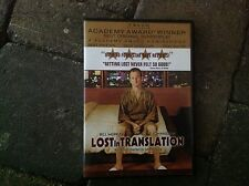 Lost in Translation DVD Movie Bill Murray Academy Award Winner Best Screenplay