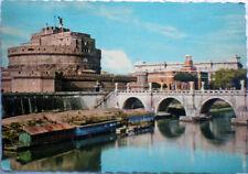 1963 cartolina ROMA Ponte e Castel Sant'Angelo viaggiata