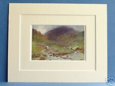 FAR EASEDALE GRASMERE CUMBRIA VINTAGE MOUNTED 1908 10X8