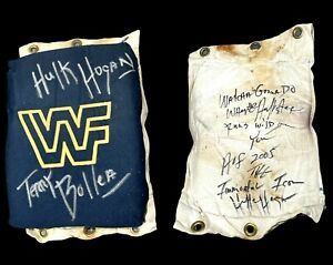 WWF WWE HULK HOGAN EVENT USED RING USED TURNBUCKLE SIGNED WITH PICTURE PROOF COA