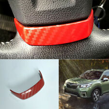 For Subaru forester XV 2013-2015 red carbon fiber Steering wheel cover trim 1pcs