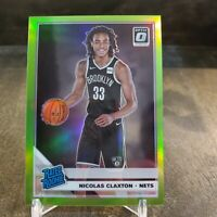 2019-20 Panini Optic Nicolas Claxton RC /149 Lime Green Prizm RATED ROOKIE