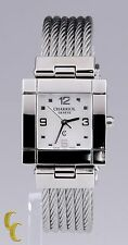 Women's Charriol Geneve Stainless Steel Watch w/Cable Knit Band Square Dial