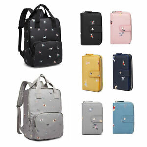 New Cartoon Bag Dog Print Laptop Backpack School Shoulder Bag And Cute Purse