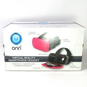 ONN Virtual Reality Smartphone Headset Pink