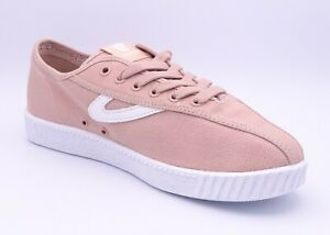 Tretorn Nylite Women's Pink Low Top Lace Up Trainers Size UK 6 EUR 39