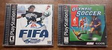 Lot of 2 PS1 Games FIFA 2001 MLS + Olympic Soccer Playstation 1 PSone 1996 2000