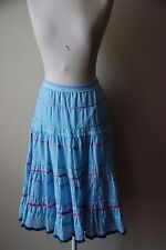 Cynthia Steffe Womens Blue Multicolor Stripe Tiered Skirt Size 10 NWT