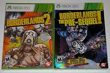 XBox 360 Game Lot - Borderlands 2 (New) Borderlands The Pre-Sequel (New)
