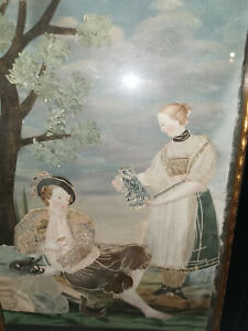 "Wiener biedermeier Collage, Seide/Gouage usw. ""Geschmack"" um 1830"