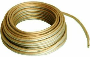 10m Speaker Cable 16AWG 1.5mm2 Pure OFC Copper Home HIFI Car Audio Fast dispatch