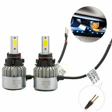 2pcs H16/Psx24W White Led Cob Head Light Fog Drl Daytime Running Lamp Bulbs Pair