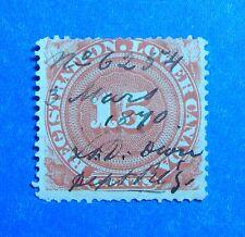1866 15c CANADA QUEBEC REGISTRATION REVENUE VD # QR2a B # 2 USED         CS32755