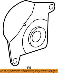 FORD OEM Front Brake-Backing Plate Dust Splash Shield 4L3Z2K004BA