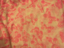 LOVELY LONG BUTTERFLY PRINT SUMMER SCARF PINK CREAM SMALL Bf wrap sarong