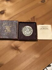 More details for 1951 festival of britain george vi five shilling crown coin in red case