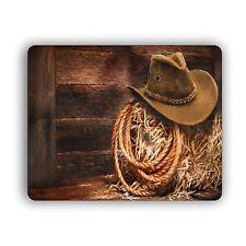 Computer Mouse Pad Cowboy Hat and Lasso Desktop PC Mousepad