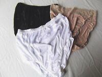 vtg lot 3 brief panties lingerie silky nylon lace sz 8 white beige Soma Warners