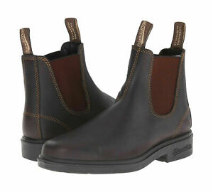 BLUNDSTONE 062 Chelsea Boots Stout Brown Premium Leather Non-Safety Size 6-12 UK