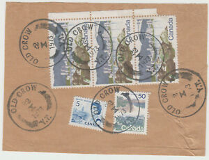 Old Crow, Yukon 1973 large CDS cancels on parcel piece