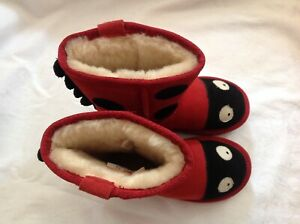 *EMU*GIRLS*LITTLE*CREATURES*LADY*BUG*AUSTRALIAN*LEATHER*BOOTS*SIZE*12*NEW*