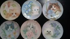 Petals and Purrs Collection by Bob Harrison Hamilton Collection plates Lot of 6