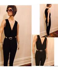 Vintage 90's Joyce Leslie Black Crepe Jumpsuit, casual elegance