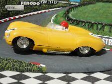 SCALEXTRIC années 1960 JAGUAR D TYPE jaune #7 C60 1:32 Slot utilisé carton