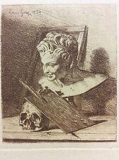Louis Givry estampe en pointe sèche 1854 Vanité