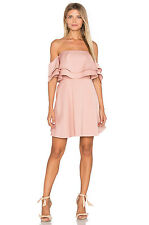 Revolve $210 Serenity Keepsake two tiered mini dress size Large Lg L Blush pink