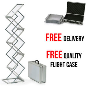 A4 Folding Literature Brochure Stand Leaflet Holder Exhibition Display Stand