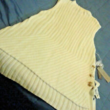 Jennifer Lopez Sleeveless Sweater w/Side Ties & Gold Grommet Details