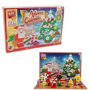 Block Tech Christmas Advent Calendar 239 Pieces Build 24 Decorations